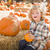 kicsi · fiú · ül · tart · sütőtök · folt - stock fotó © feverpitch