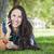 若い女の子 · 手押し車 · スマート · 携帯電話 · 笑顔 - ストックフォト © feverpitch
