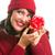 vrouwelijke · hand · zilver · geschenkdoos · vrouw - stockfoto © feverpitch