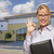 Businesswoman In Front of Vacant Office Building stock photo © feverpitch