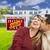 spanyol · pár · új · otthon · eladva · ingatlan · felirat - stock fotó © feverpitch