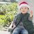 Cute Mixed Race Boy With Santa Hat and Candy Cane stock photo © feverpitch