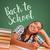 fiatal · tini · iskolatábla · vissza · az · iskolába · írott · iskola - stock fotó © feverpitch