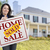 mujer · vendido · casa · venta · signo - foto stock © feverpitch