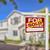 Rood · uitverkocht · home · verkoop · onroerend · teken - stockfoto © feverpitch