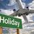ünnep · zöld · jelzőtábla · repülőgép · fölött · drámai - stock fotó © feverpitch