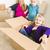 jóvenes · familia · habitación · vacía · jugando · juguetón - foto stock © feverpitch