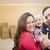 young family in room with moving boxes stock photo © feverpitch