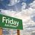 à · frente · verde · placa · sinalizadora · dramático · nuvens · céu - foto stock © feverpitch