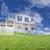 bella · casa · disegno · sopra · erba - foto d'archivio © feverpitch
