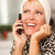 attractive caucasian woman talking on cell phone stock photo © feverpitch