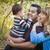 счастливым · этнических · семьи · играет · парка - Сток-фото © feverpitch