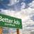 better job green road sign over clouds stock photo © feverpitch