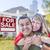 paar · verkoop · teken · huis · gelukkig · halfbloed - stockfoto © feverpitch