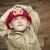 godny · podziwu · dziecko · chłopca · strażak · hat · gry - zdjęcia stock © feverpitch