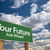 your future green road sign stock photo © feverpitch