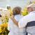 pareja · de · ancianos · sesión · lago · nietos · ninos · hombre - foto stock © feverpitch