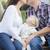 jonge · ouders · zoenen · baby · portret - stockfoto © feverpitch