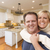 Happy Couple Inside Beautiful Custom Kitchen stock photo © feverpitch