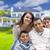 fiatal · spanyol · család · új · otthon · boldog · gyerekek - stock fotó © feverpitch