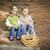 frate · sora · copii · lemn · paşi · dovleci - imagine de stoc © feverpitch