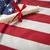 ruban · diplôme · drapeau · américain · espace · de · copie - photo stock © feverpitch
