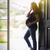 silueta · puerta · mujer · sexy · mujer · luz · femenino - foto stock © feverpitch