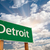 Detroit · Michigan · vista · horizonte · noche · negocios - foto stock © feverpitch