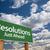 değiştirmek · yeşil · yol · işareti · bulutlar · önde · dramatik - stok fotoğraf © feverpitch