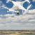 vliegtuigen · lucht · landelijk · buurt · huizen · hemel - stockfoto © feverpitch