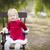 愛らしい · 青 · 少女 · 演奏 · 外 · 家族 - ストックフォト © feverpitch