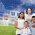 ispanico · famiglia · casa · disegno · dietro · foto - foto d'archivio © feverpitch
