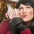 Woman Holding Candy Canes in Christmas Setting stock photo © feverpitch