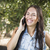 Mixed Race Young Female Talking on Cell Phone Outside stock photo © feverpitch