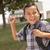 gelukkig · jonge · latino · jongen · klaar · school - stockfoto © feverpitch