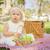 cute · easter · eggs · coperta · da · picnic · erba - foto d'archivio © feverpitch