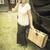 1920 · meisje · koffers · veranda · vintage · effect - stockfoto © feverpitch