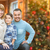 young mixed race family in front of christmas tree stock photo © feverpitch