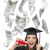 Female Graduate Holding $100 Bills with Many Falling Around Her stock photo © feverpitch