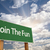 join the fun green road sign stock photo © feverpitch