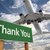 Thank You Green Road Sign and Airplane Above stock photo © feverpitch