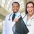 female and male caucasian and african american doctors in hospit stock photo © feverpitch