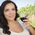 kobieta · szkła · wina · winnicy - zdjęcia stock © feverpitch