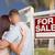 excitado · hombre · vendido · inmobiliario · signo · casa - foto stock © feverpitch