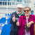 senior couple with thumbs up on deck of cruise ship stock photo © feverpitch