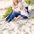 bella · mamma · cute · spiaggia · ritratto · ragazza - foto d'archivio © feverpitch