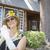 aantrekkelijke · vrouw · twintiger · antieke · huis · aantrekkelijk · jonge · vrouw - stockfoto © feverpitch