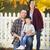 jovem · retrato · de · família · ao · ar · livre · feliz · atraente - foto stock © feverpitch