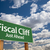fiscal cliff green road sign stock photo © feverpitch