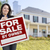 female holding sale by owner sign in front of house stock photo © feverpitch
